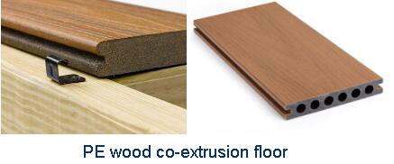 PE wood plastic profiles (two-step) extrusion production