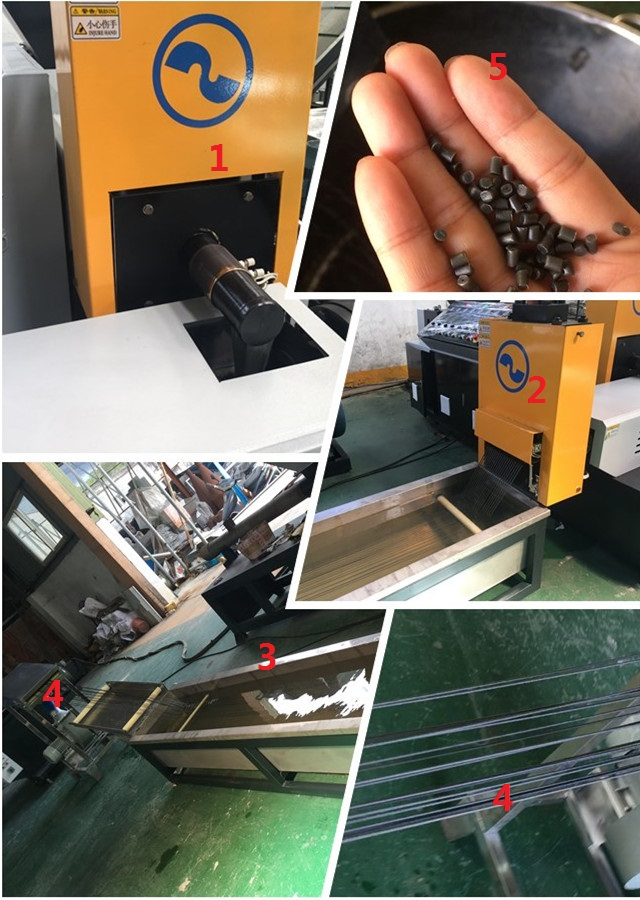 Waste- Recycled- Plastic- Granules- Production- Machine